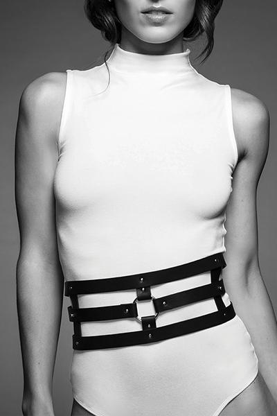 lingerie bdsm ceinture et menottes noir maze Bijoux indiscrets