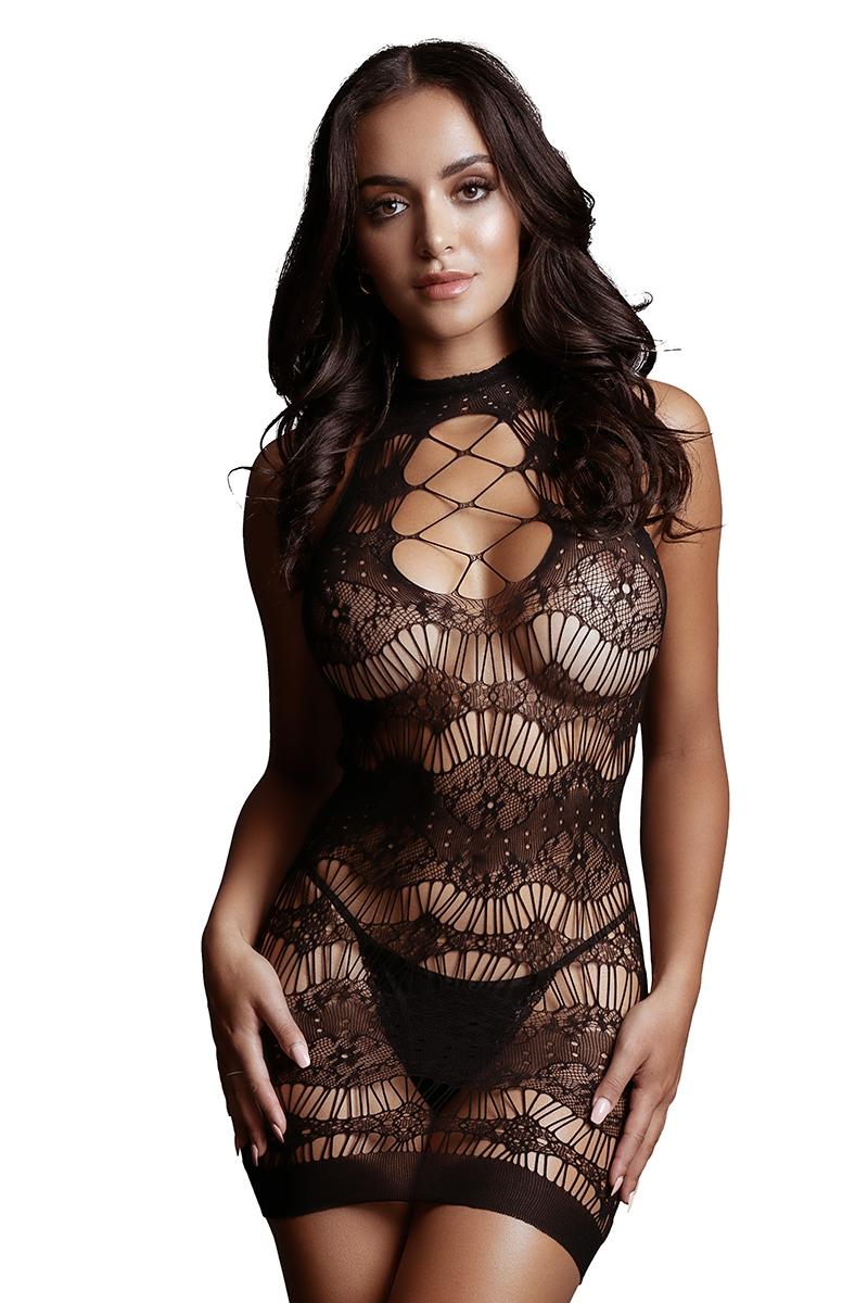 Mini robe noire transparente 17436 Le Désir taille unique