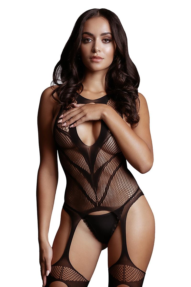 bodystocking lingerie combinaison sexy ouverture 17416 Le Désir