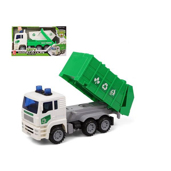Camion-benne Lumière Son Vert 119206