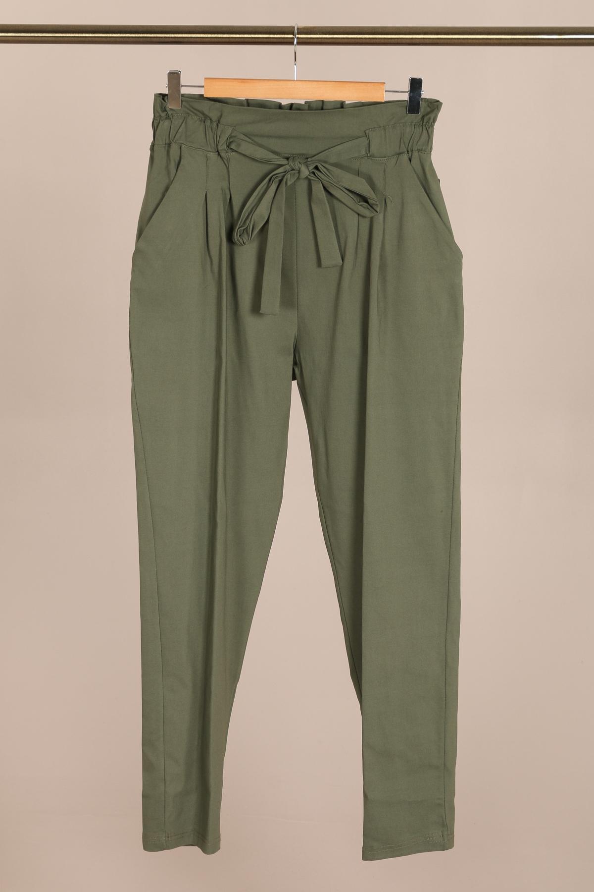 pantalon grande taille femme 46 au 60 marque 2w paris kaki p2123