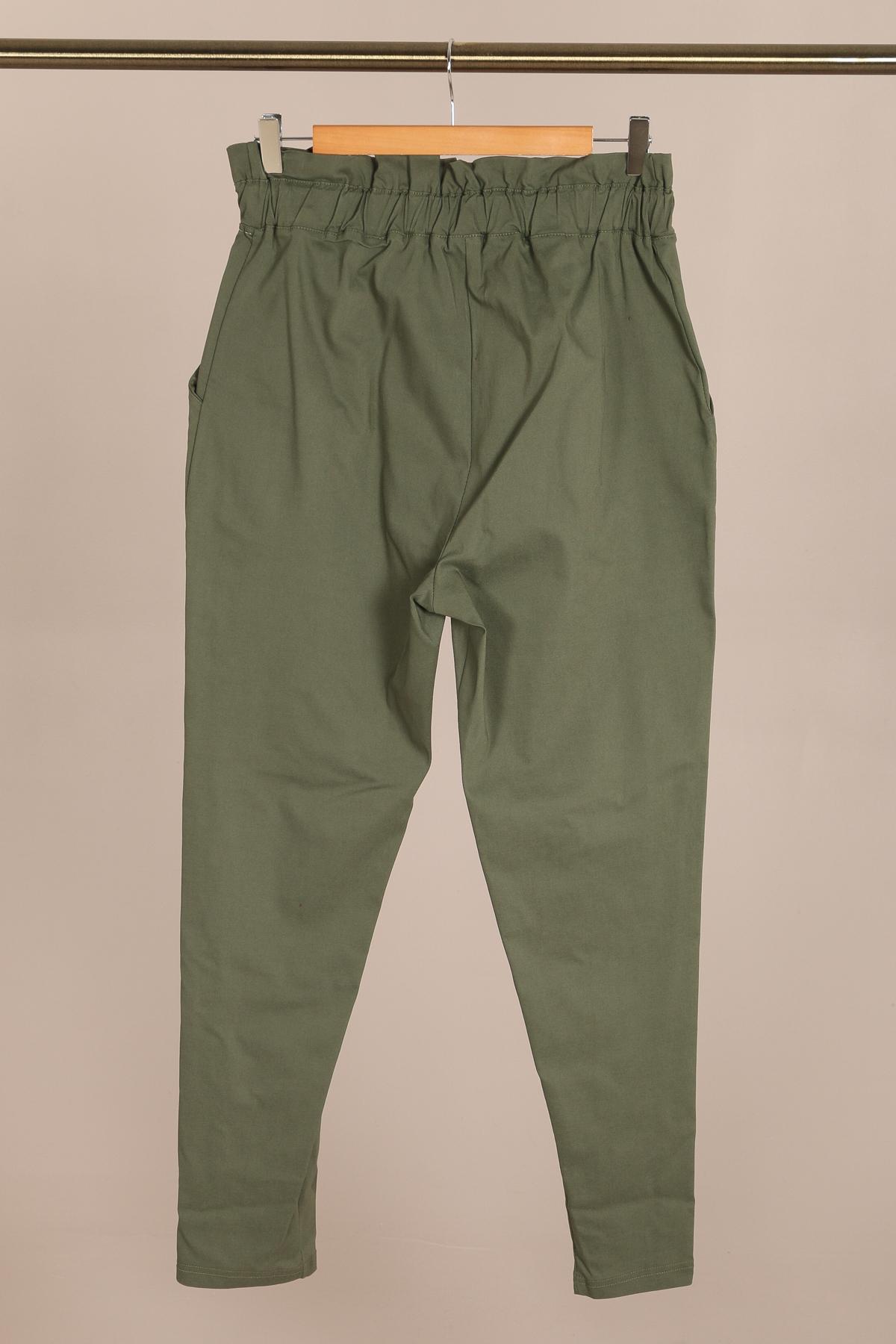 pantalon habillé femme grande taille marque 2w paris kaki p2123