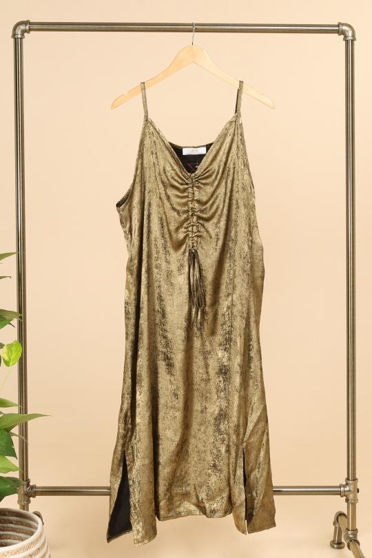 robe grande taille fete marque 2w paris doré r1358