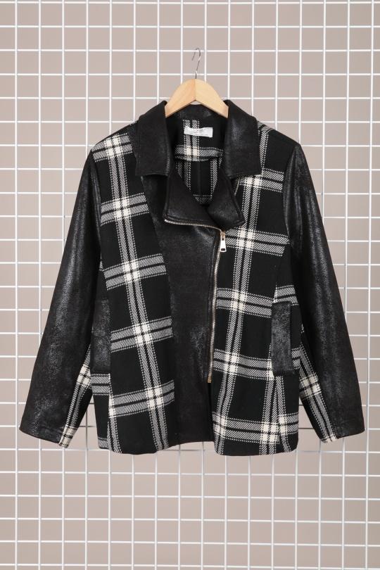 veste demi saison grande taille marque 2w paris noir v1378