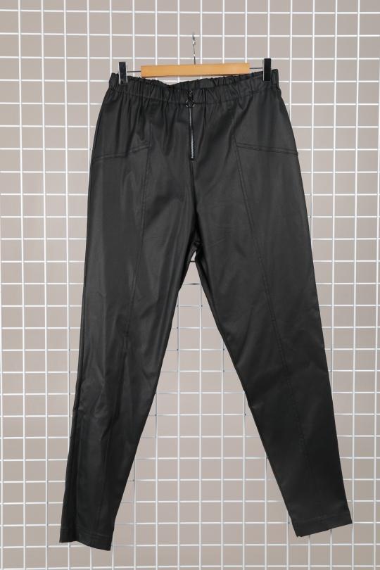 pantalon enduit femme grande taille 46 au 60 marque 2w paris noir p2153