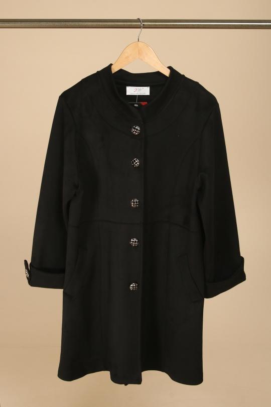 manteau veste femme grande taille 2w noir v1361