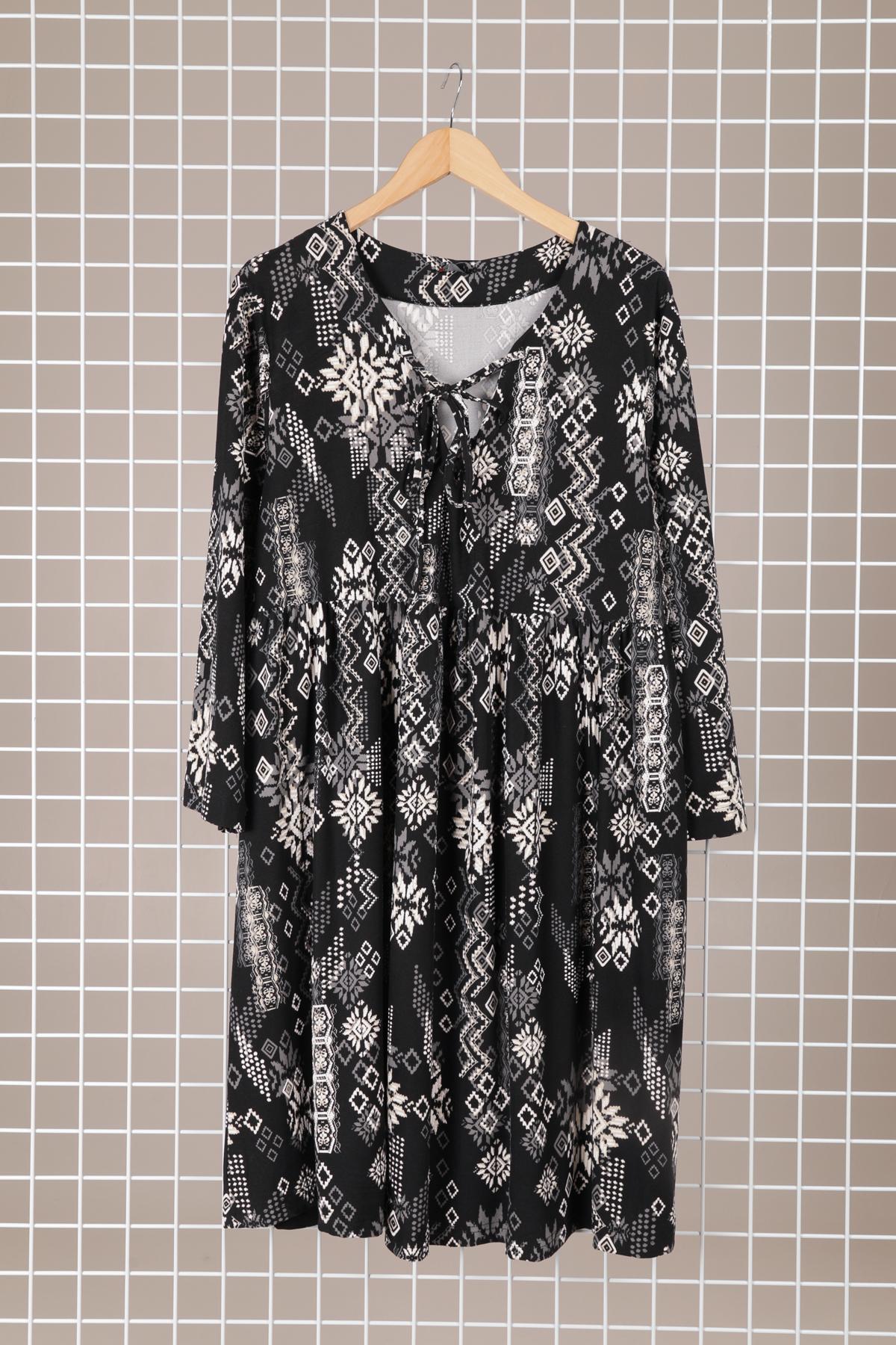 robe originale grande taille femme marque 2w paris noir h3500-2