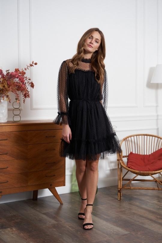 marque choklate robe dentelle chic noir choklate marque 80876-1