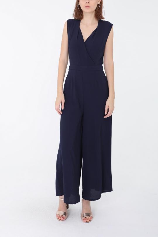 combinaison bleu marine chic femme choklate marque 80908