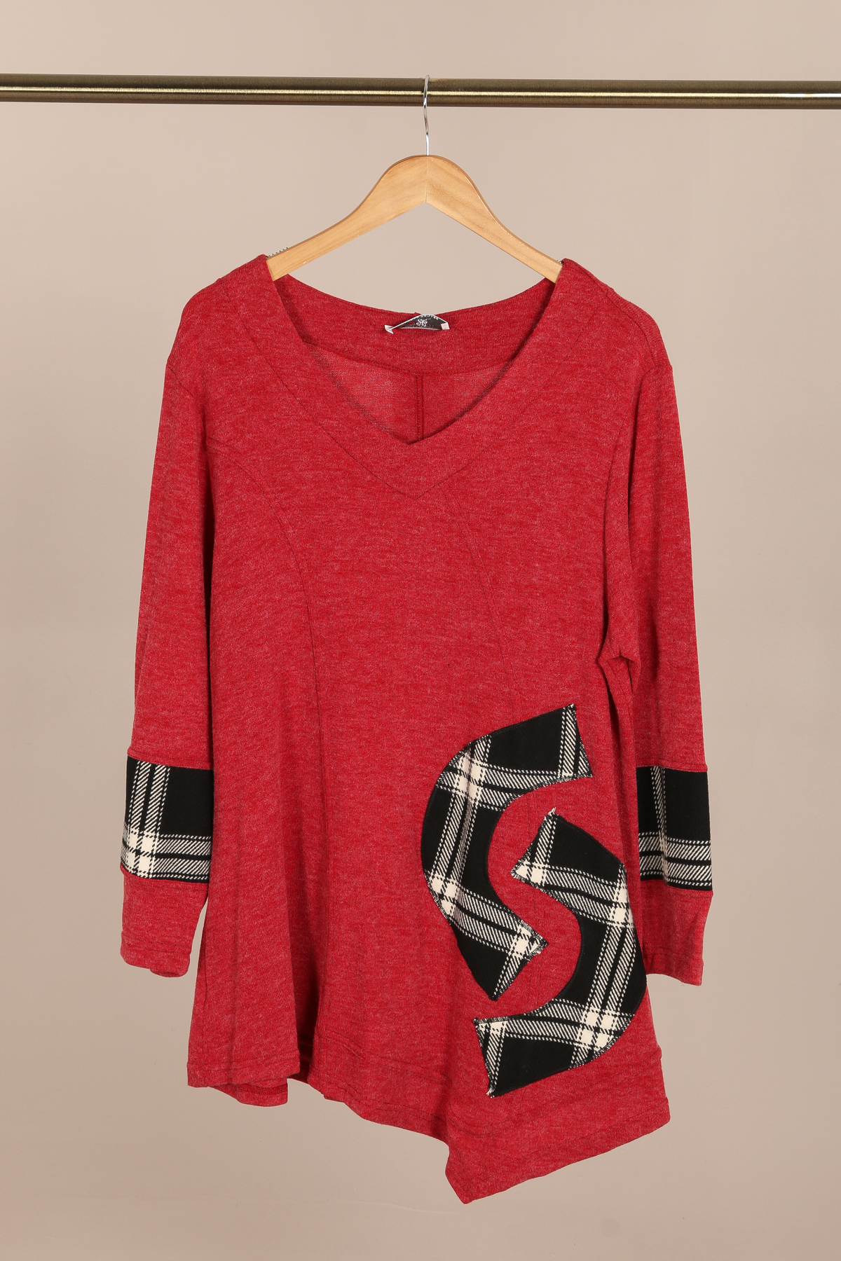 pull rouge grande taille 2W femme 46 au 60 h3525