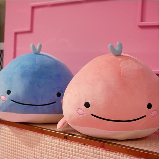 Peluche baleine bébé 15 cm rose ou bleu