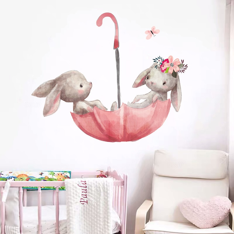 stickers lapin chambre bébé