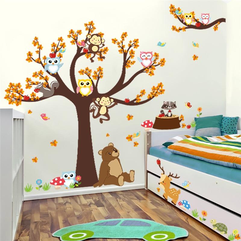 stickers chambre enfant arbre
