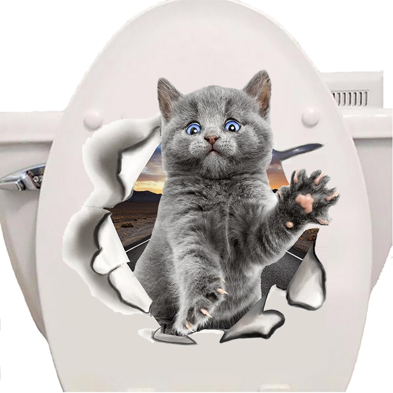 stickers abattant wc chat