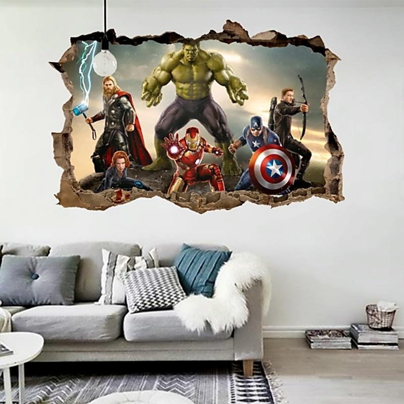stickers de avengers 50 X 70 cm