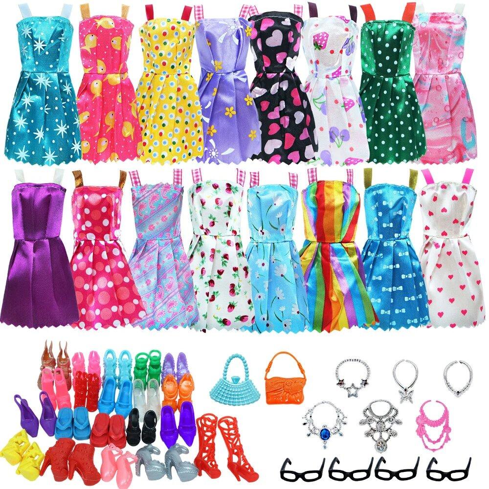 lot 30 vetements et accessoires pour barbie stock
