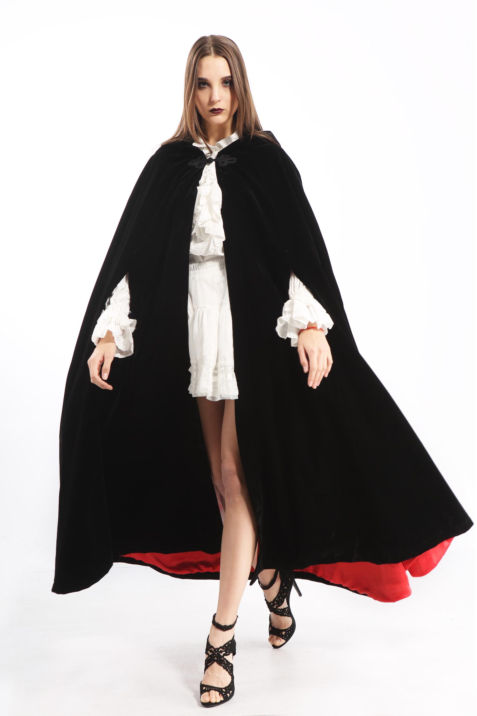 cape victorienne velours femme pentagramme taille unique