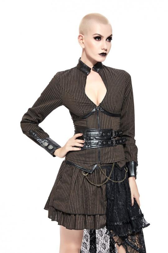 top steampunk bustier femme pentagramme S au XXL