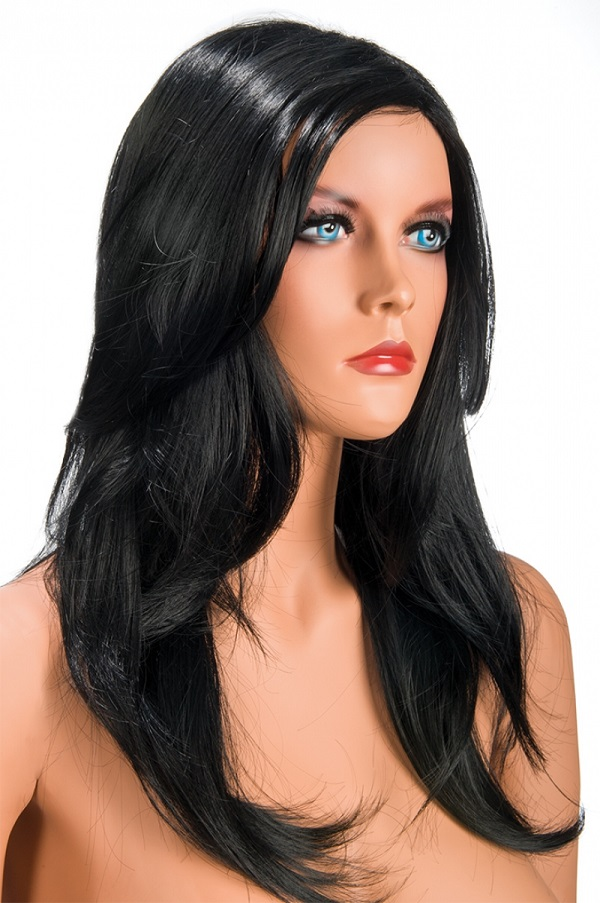 Perruque longue Olivia brune World Wigs