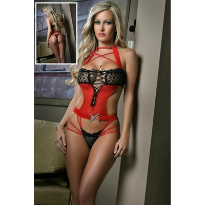 lingerie femme rouge taille S