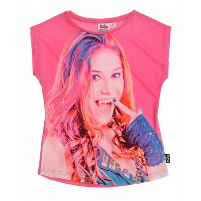 tee shirt fille chica vampiro col rond 6 au 12 ans