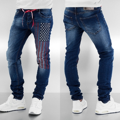 JEAN homme sixth june Straight Fit USA en bleu