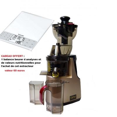 extracteur de Jus carbel GG  gold avec en cadeau une Balance beurer d'Analyse et de Valeurs Nutritionnelles offerte