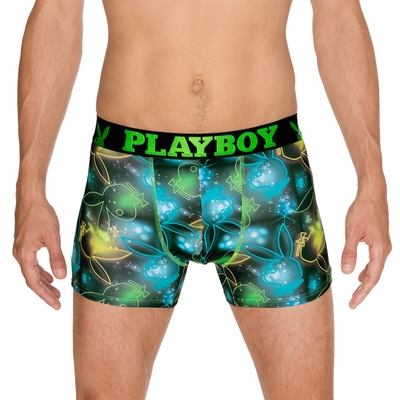 boxer playboy homme trendy imprime neon