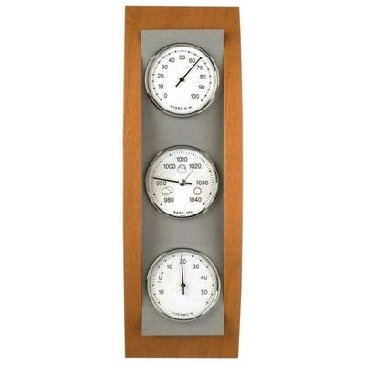 Station météo mécanique – Placage bois et ABS aspect alu