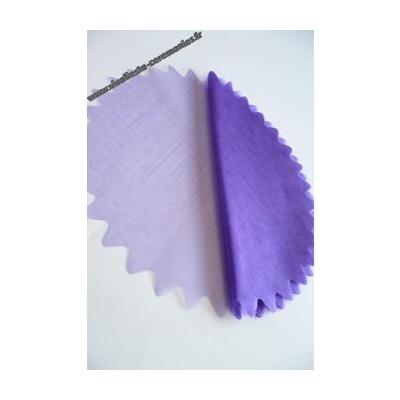 10 ronds voile brillant violet