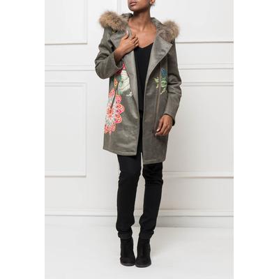 manteau 101 idées femme imprimé avec capuche f0343