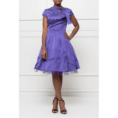 robe à pois isabel garcia violet s au xl