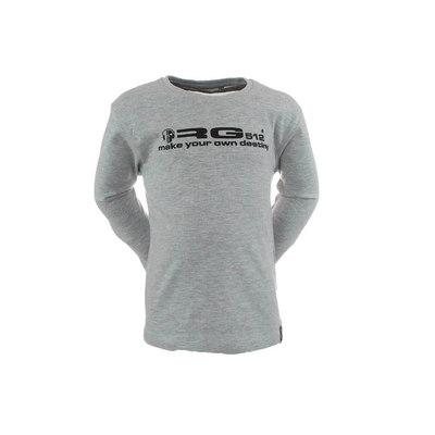 T-shirt gris clair manches longues RG512 du S au XL