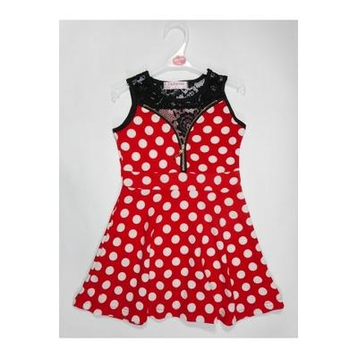 robe fille rouge g822 du 4 au 14 ans