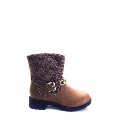 bottine en dentelle brun ml shoes 28 au 35