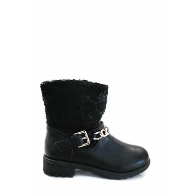 bottine en dentelle noir ml shoes 28 au 35