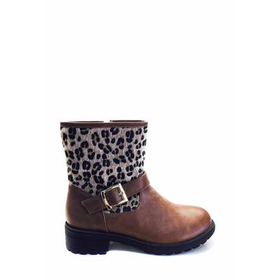 bottine en léopard brun ml shoes 28 au 35