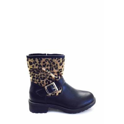 bottine en léopard noir ml shoes 28 au 35