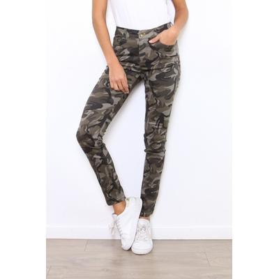 pantalon militaire kaki 2978 miss bon xs au xl