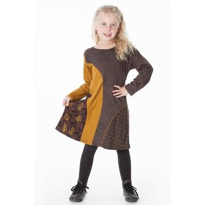 robe ethnique fille aller simplement KIDRO305  3 ans au 10 ans