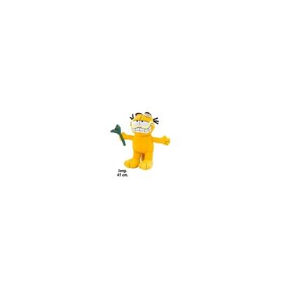 Peluche Garfield avec fleur. Hauteur : 41 cm