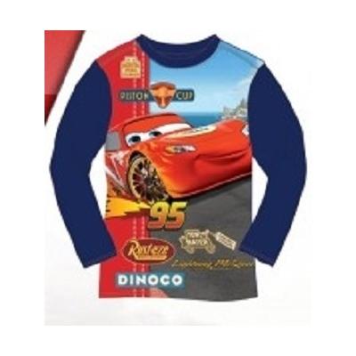 T-shirt Cars Disney manches longues bleu 3 au 8 ans