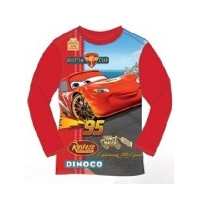 T-shirt Cars Disney manches longues rouge 3 au 8 ans