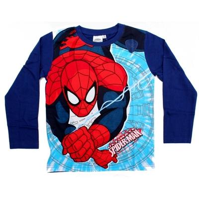 T-shirt spiderman manches longues bleu 3 au 8 ans