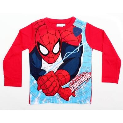 T-shirt spiderman manches longues rouge 3 au 8  ans