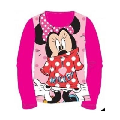 T-shirt minnie Disney manches longues fushia 2 au 6 ans