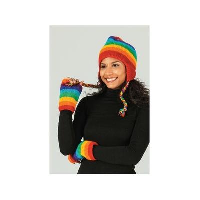 Bonnet style péruvien Arc en Ciel