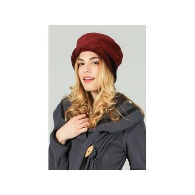 Chapeau rouge à revers noir