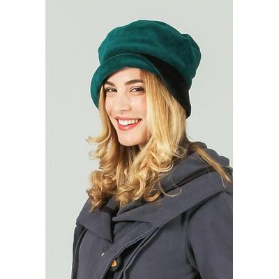 Chapeau vert à revers noir