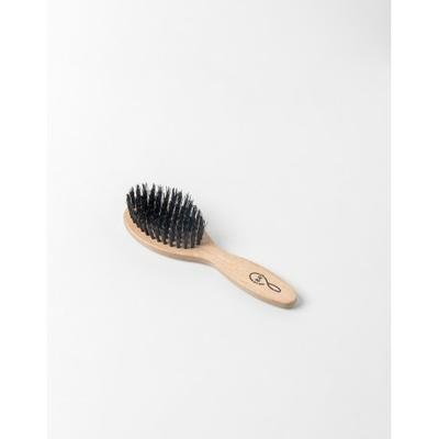 Brosse à Cheveux en Bois de Hêtre Rouge Nylon et Soie de Sanglier petit modèle pour sac à main